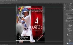 003 Outstanding Photoshop Baseball Magazine Cover Template Inspiration