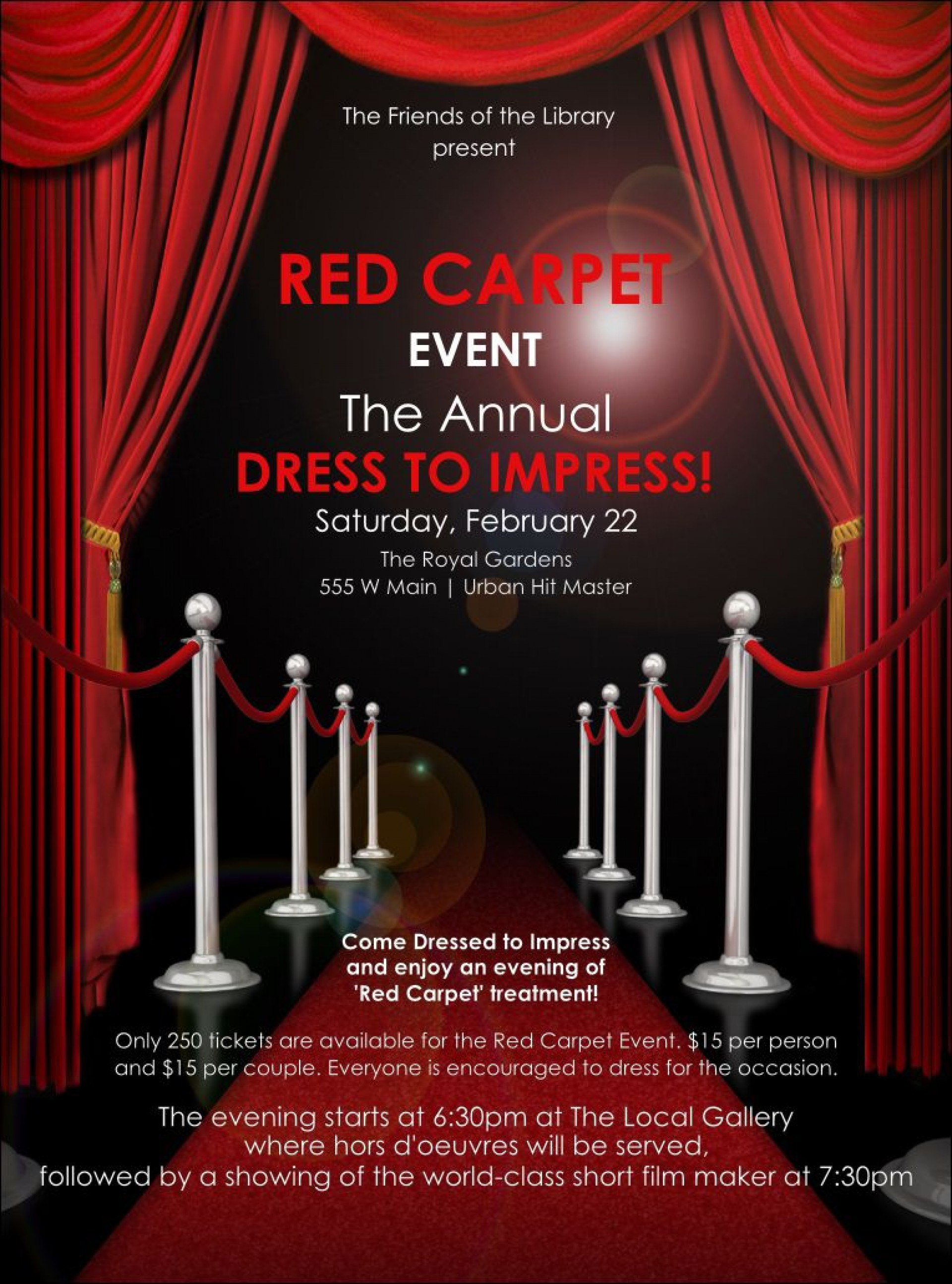 003 Outstanding Red Carpet Invitation Template Free High Def  Download1920