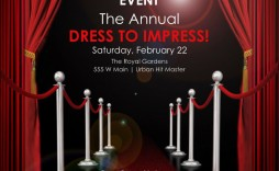 003 Outstanding Red Carpet Invitation Template Free High Def  Download