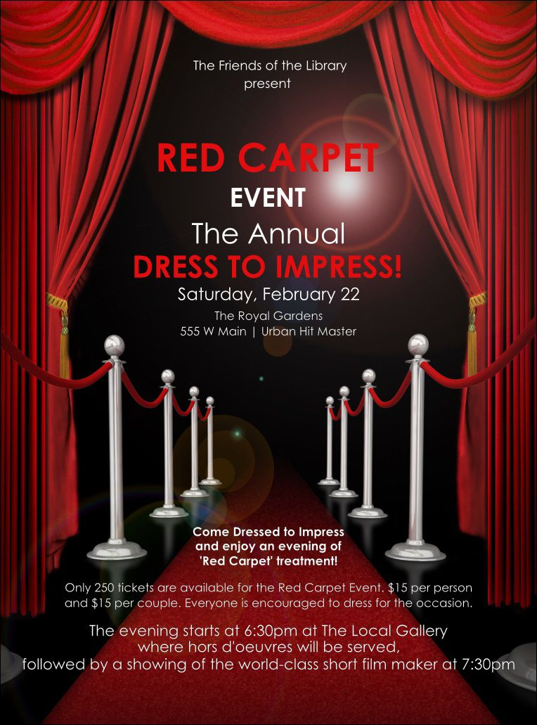 003 Outstanding Red Carpet Invitation Template Free High Def  DownloadFull