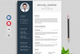 003 Outstanding Resume Template M Word 2020 Concept  Free Microsoft