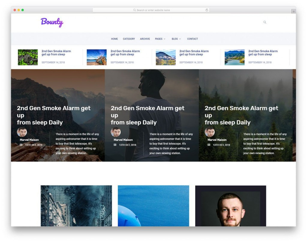 003 Outstanding Simple Html Blog Template Free Download Sample  With CsLarge