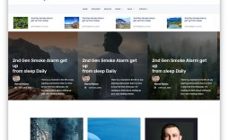 003 Outstanding Simple Html Blog Template Free Download Sample  With Cs