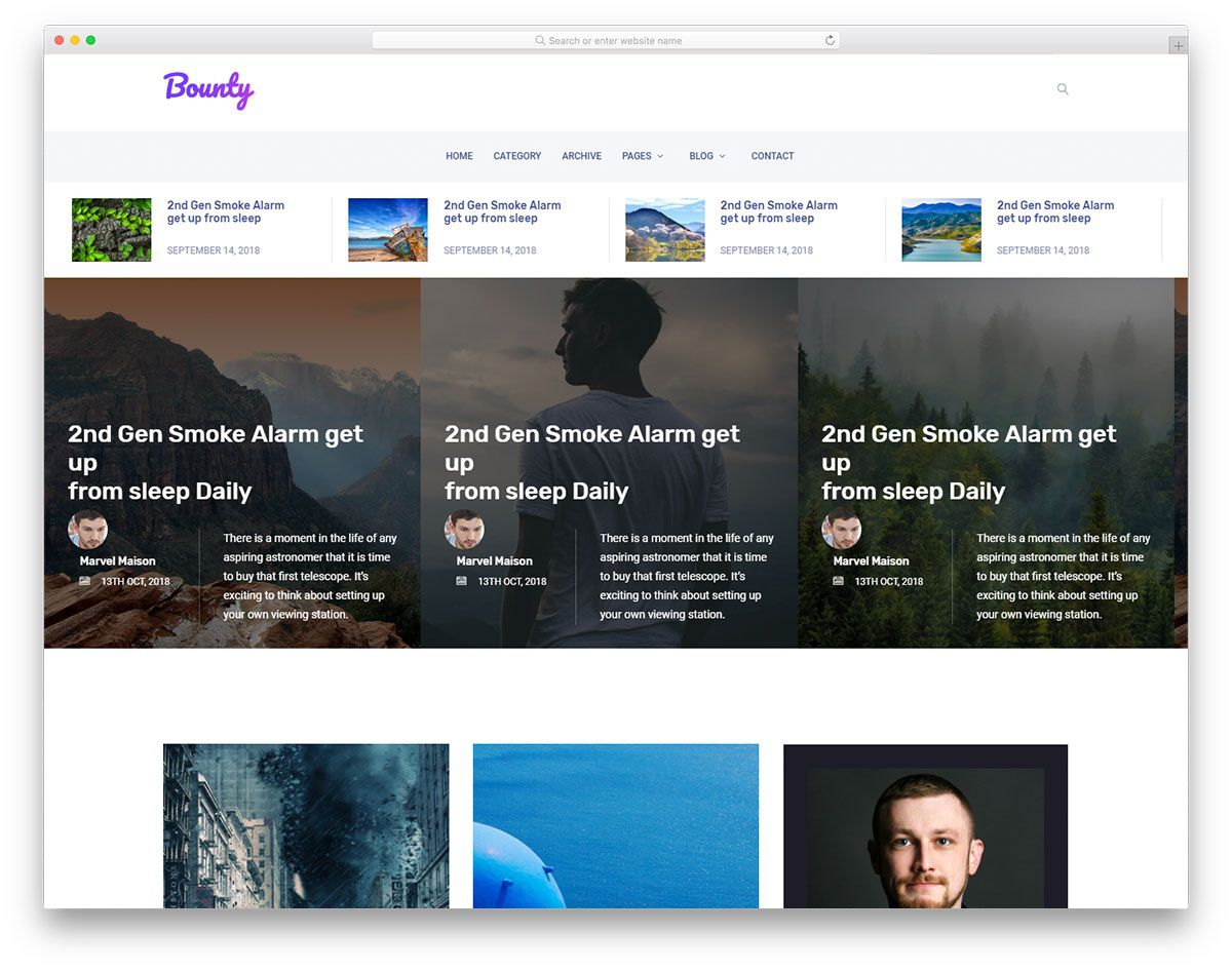 003 Outstanding Simple Html Blog Template Free Download Sample  With CsFull