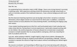 003 Outstanding Teacher Cover Letter Template High Resolution  Teaching Job