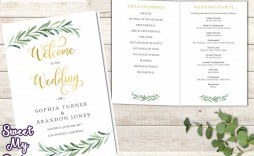 003 Outstanding Wedding Order Of Service Template Sample  Pdf Publisher Microsoft Word