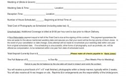 003 Outstanding Wedding Photographer Contract Template Free High Definition  Simple Photography Word