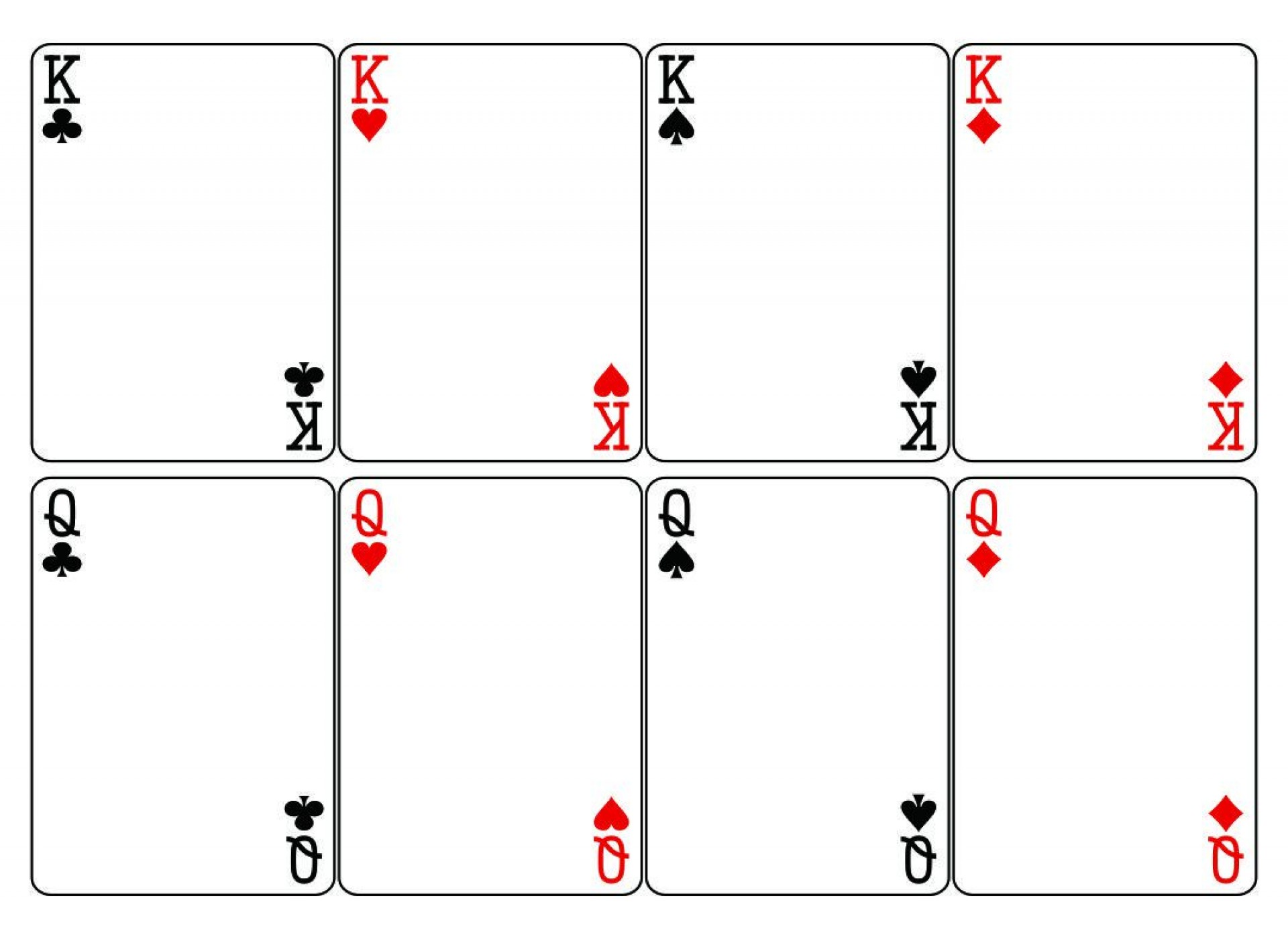 003 Phenomenal Blank Playing Card Template Word High Resolution 1920