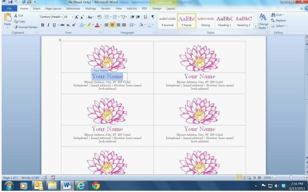 003 Phenomenal Busines Card Template Microsoft Word 2010 High Definition Large