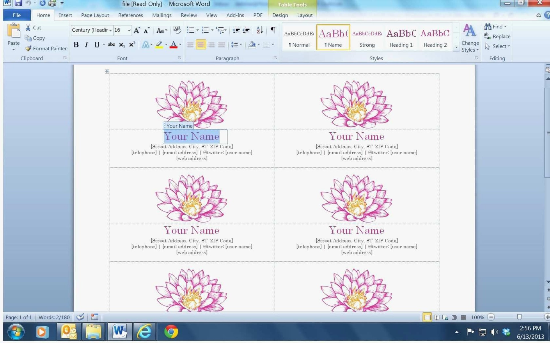 003 Phenomenal Busines Card Template Microsoft Word 2010 High Definition 1920
