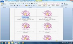 003 Phenomenal Busines Card Template Microsoft Word 2010 High Definition