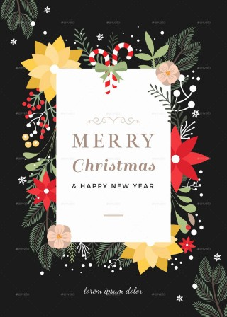 003 Phenomenal Christma Card Template Free Download Photo  Xma Place320