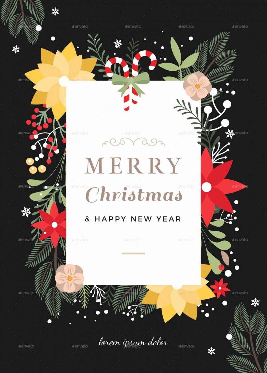 003 Phenomenal Christma Card Template Free Download Photo  Xma Place868
