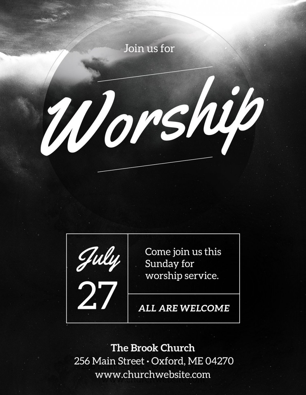 003 Phenomenal Church Flyer Template Free Download Highest Quality  Event PsdLarge