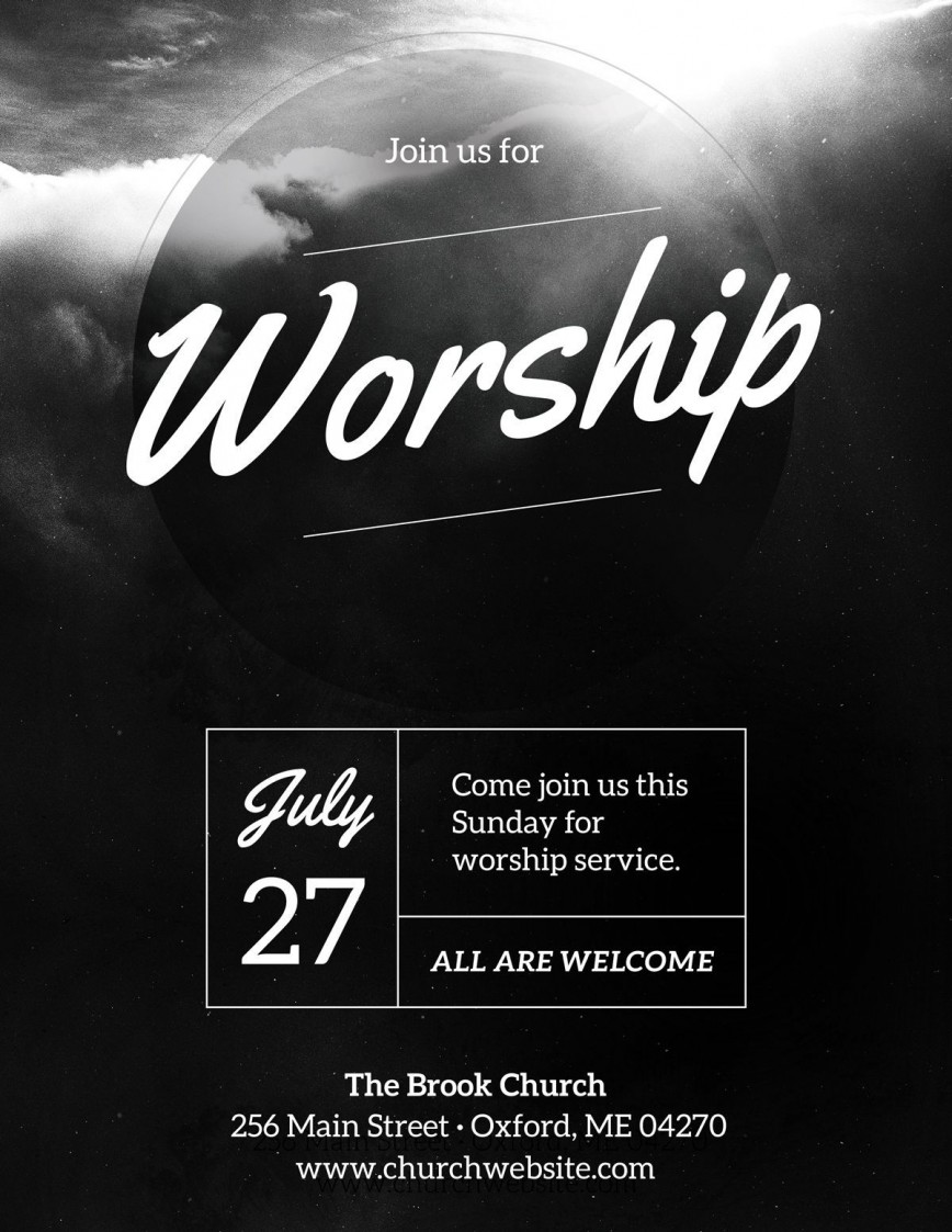 003 Phenomenal Church Flyer Template Free Download Highest Quality  Event