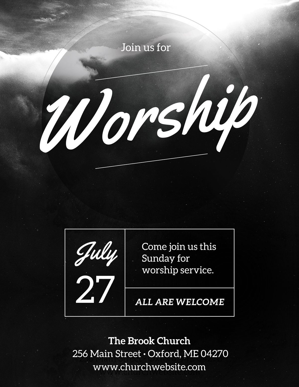 003 Phenomenal Church Flyer Template Free Download Highest Quality  Event PsdFull