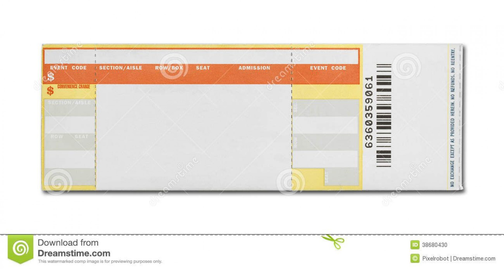 003 Phenomenal Free Concert Ticket Template Printable Highest Quality  Gift1920