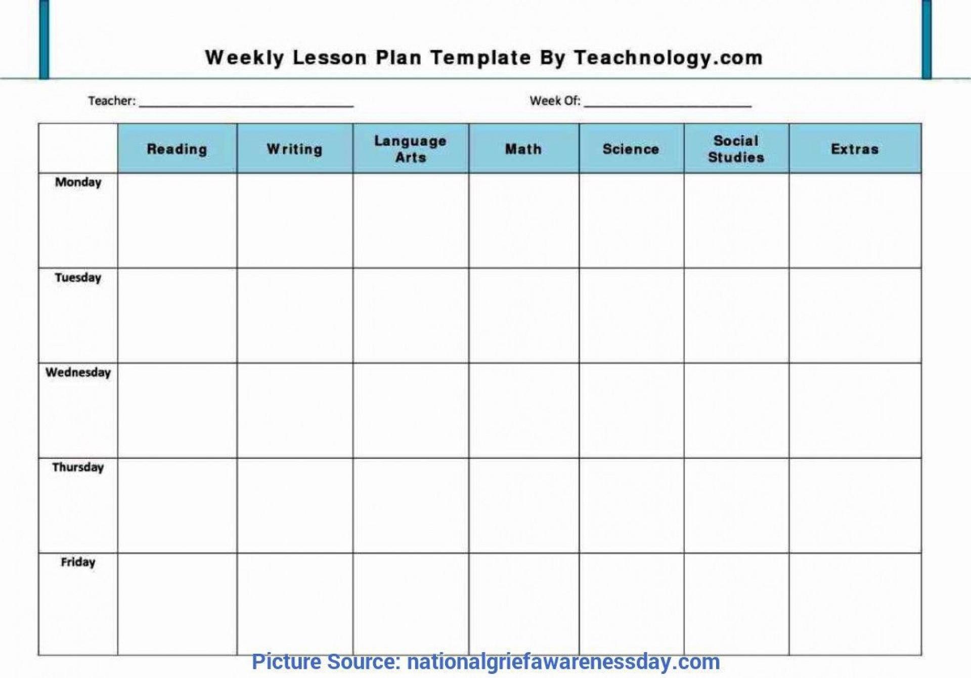 003 Phenomenal Free Editable Weekly Lesson Plan Template Pdf Example  Blank1920