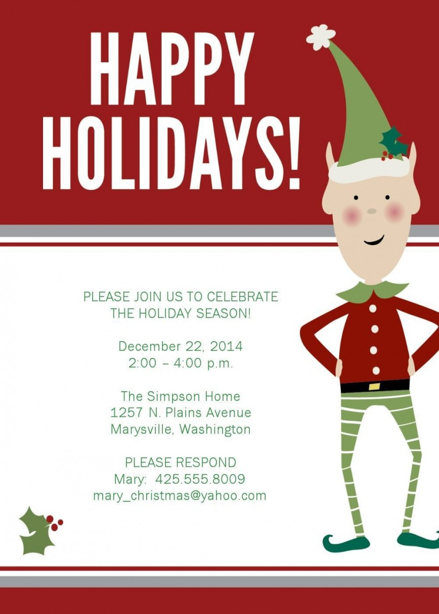 003 Phenomenal Free Email Holiday Party Invitation Template Idea  Templates Christma
