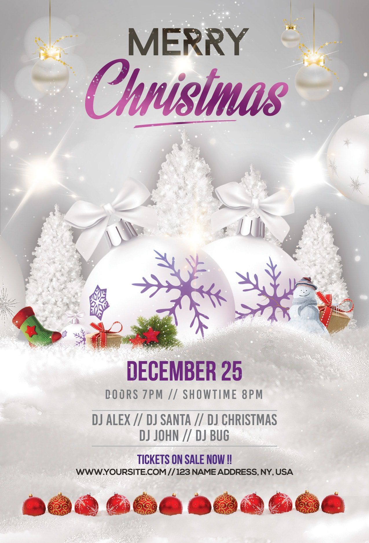 003 Phenomenal Free Holiday Flyer Template High Definition  Printable Christma Word Sale PartyFull