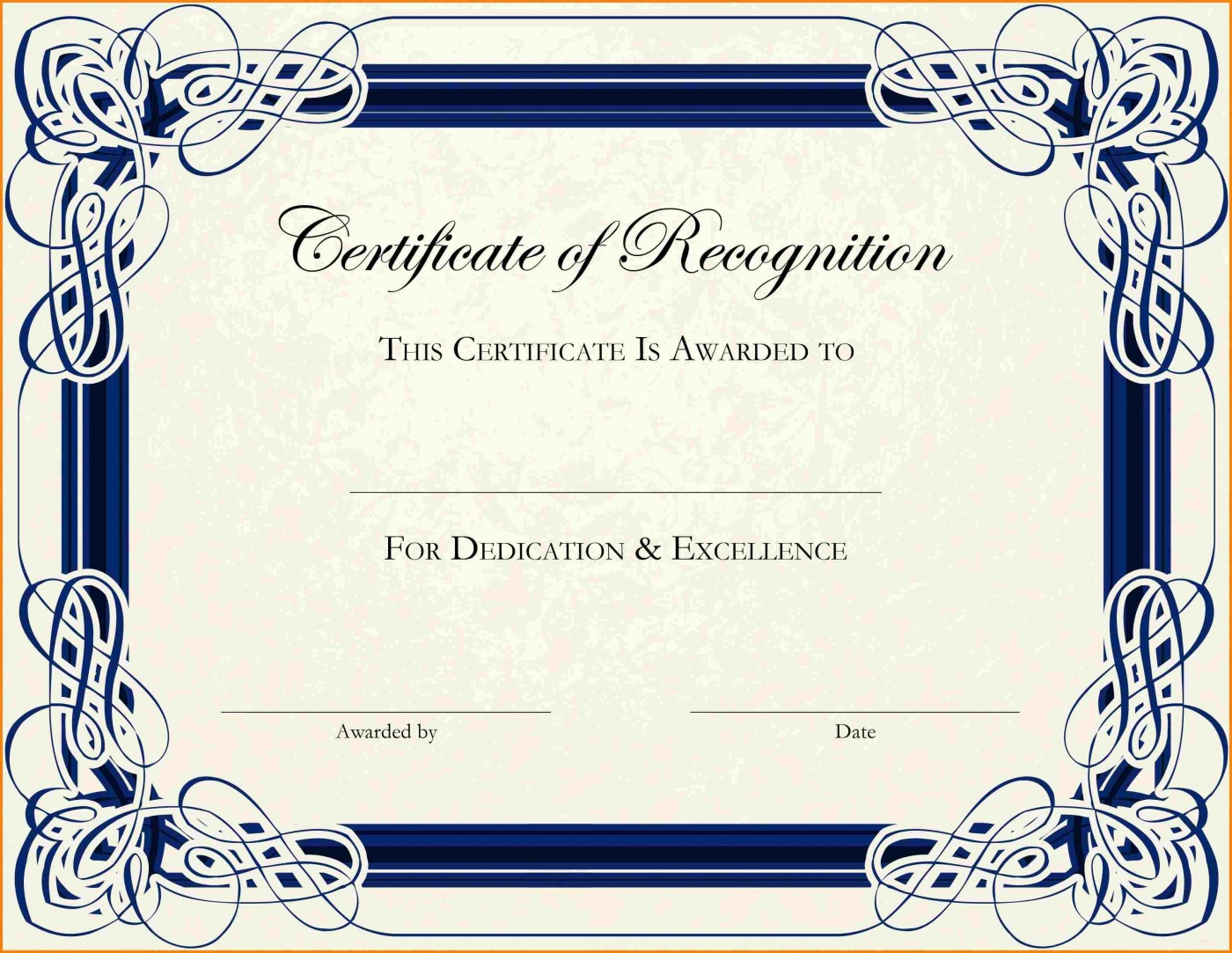 003 Phenomenal Free Printable Certificate Template Photo  Blank Gift For Word Pdf1400