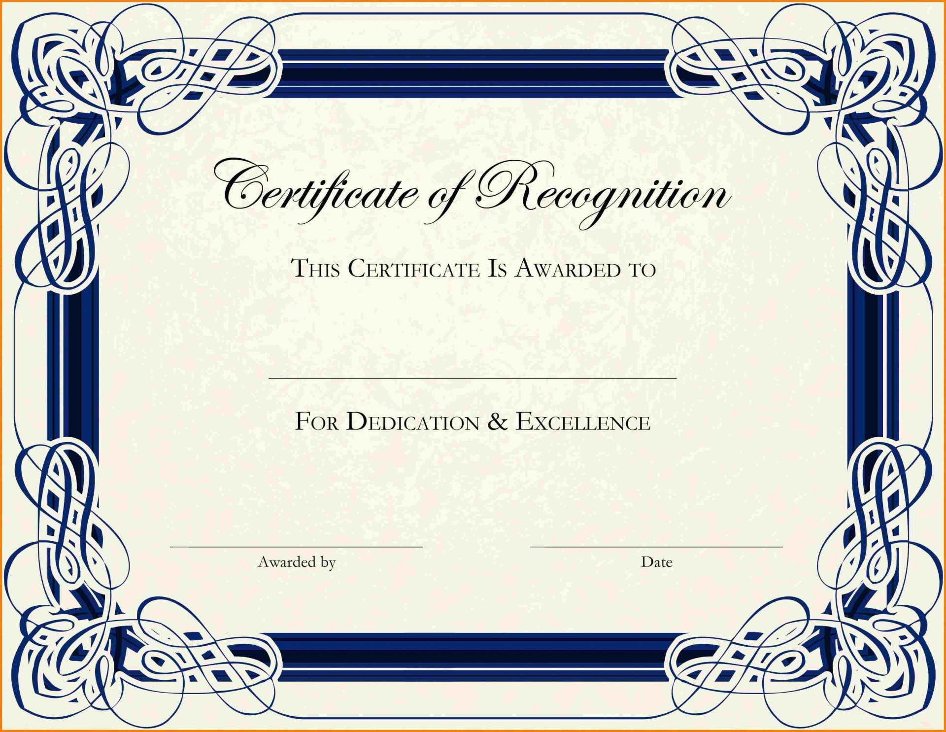 003 Phenomenal Free Printable Certificate Template Photo  Templates Blank Downloadable Participation1920