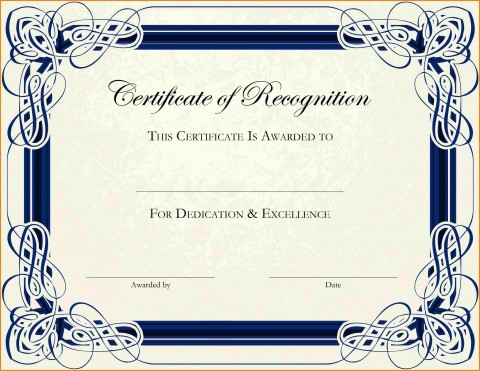 003 Phenomenal Free Printable Certificate Template Photo  Blank Gift For Word Pdf480