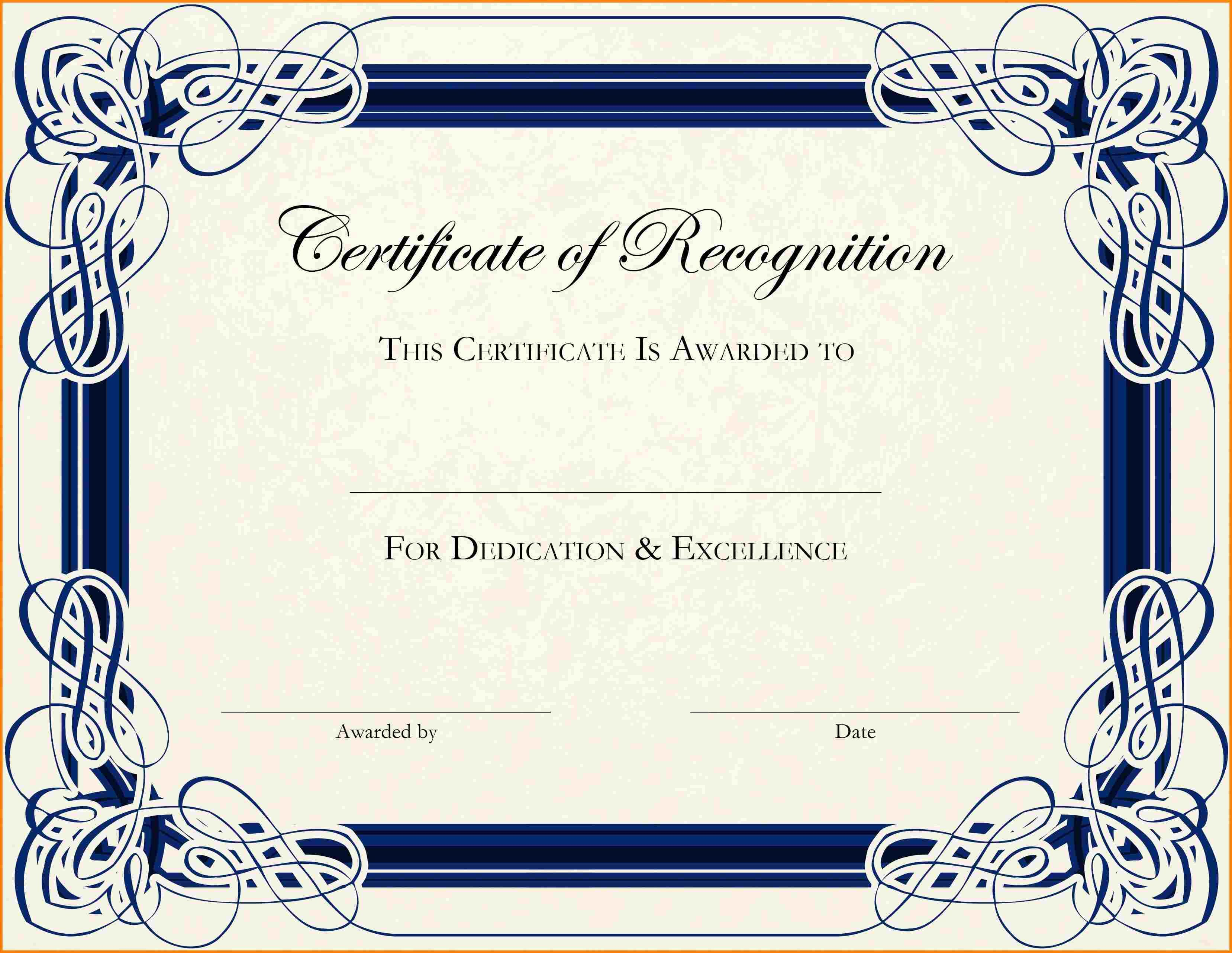 003 Phenomenal Free Printable Certificate Template Photo  Templates Blank Downloadable ParticipationFull