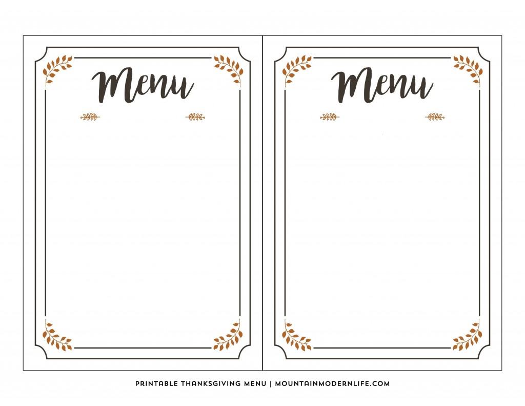 003 Phenomenal Free Printable Menu Template Photo  For Dinner Party FamilyLarge