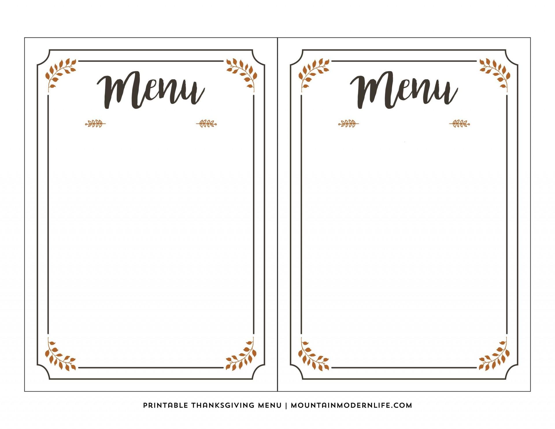 003 Phenomenal Free Printable Menu Template Photo  For Dinner Party Family1920