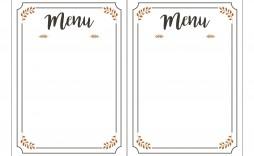 003 Phenomenal Free Printable Menu Template Photo  For Dinner Party Family