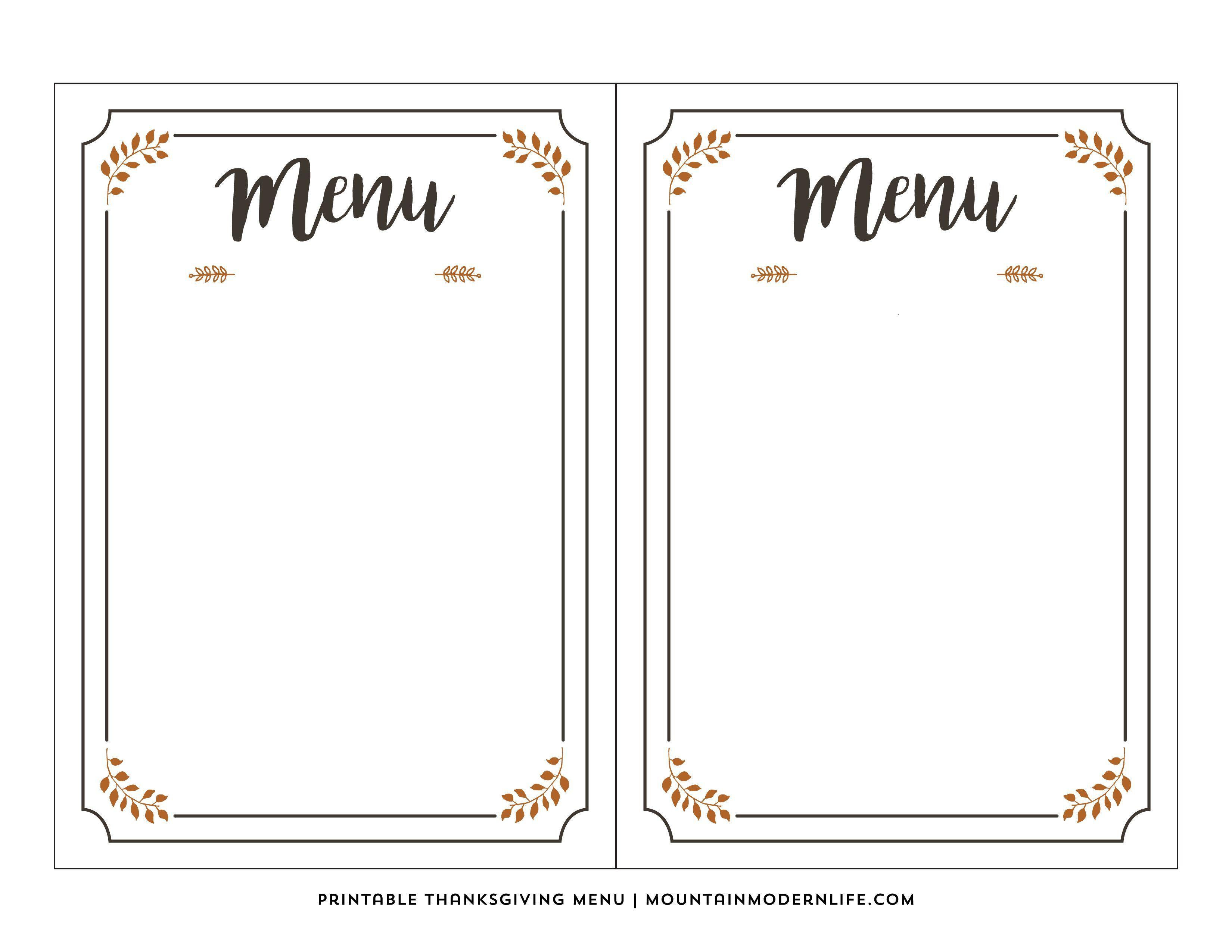 003 Phenomenal Free Printable Menu Template Photo  For Dinner Party FamilyFull