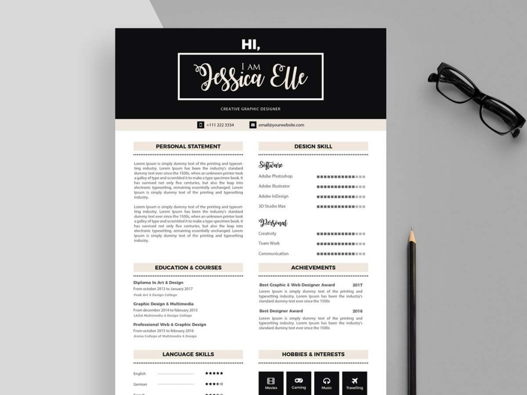 003 Phenomenal Free Printable Resume Template Download Highest Quality Large