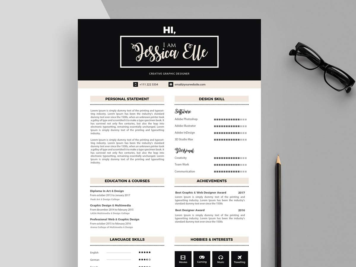 003 Phenomenal Free Printable Resume Template Download Highest Quality Full