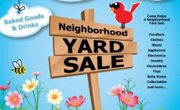 003 Phenomenal Garage Sale Flyer Template Free Design  Community Neighborhood Yard