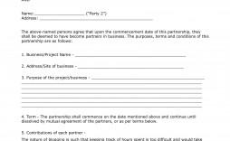 003 Phenomenal General Partnership Agreement Template Canada Design