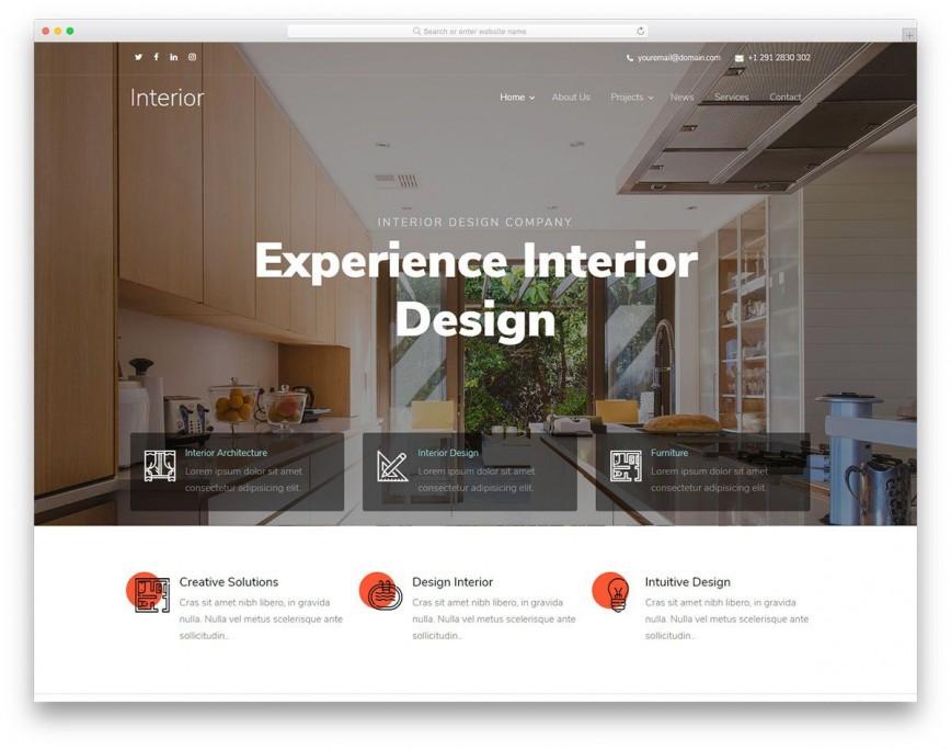003 Phenomenal Interior Design Html Template Free Idea  Download