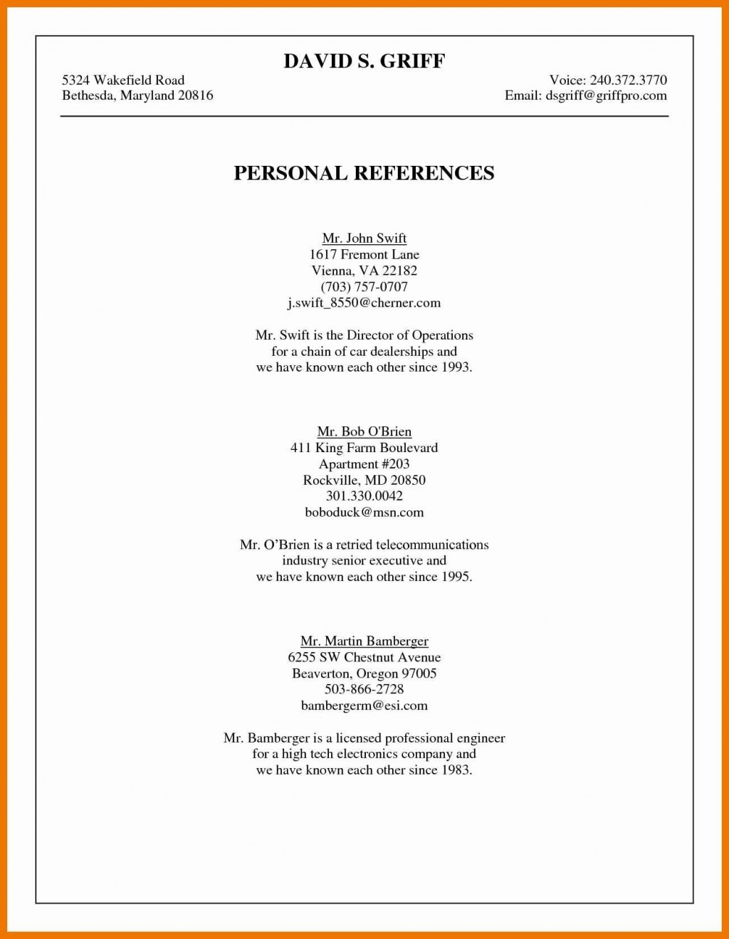 003 Phenomenal List Personal Reference Sample High Def Large