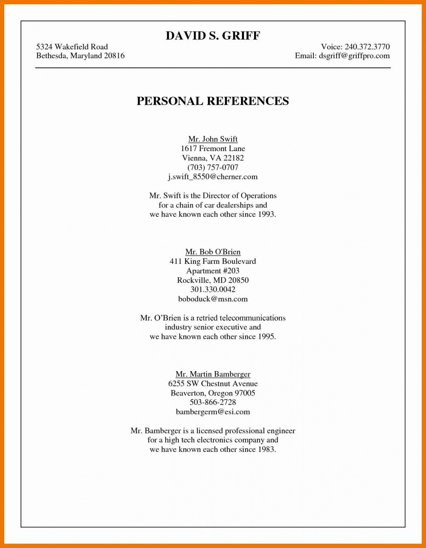003 Phenomenal List Personal Reference Sample High Def 1400