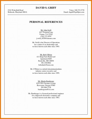 003 Phenomenal List Personal Reference Sample High Def 320