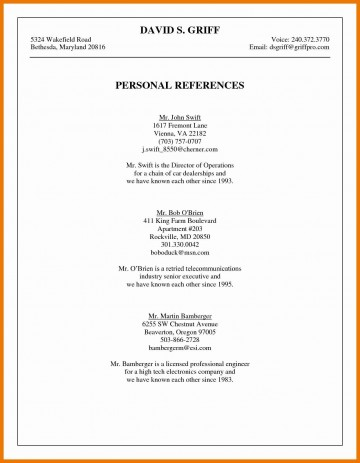 003 Phenomenal List Personal Reference Sample High Def 360