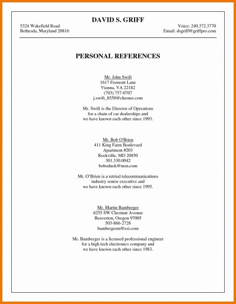 003 Phenomenal List Personal Reference Sample High Def 480