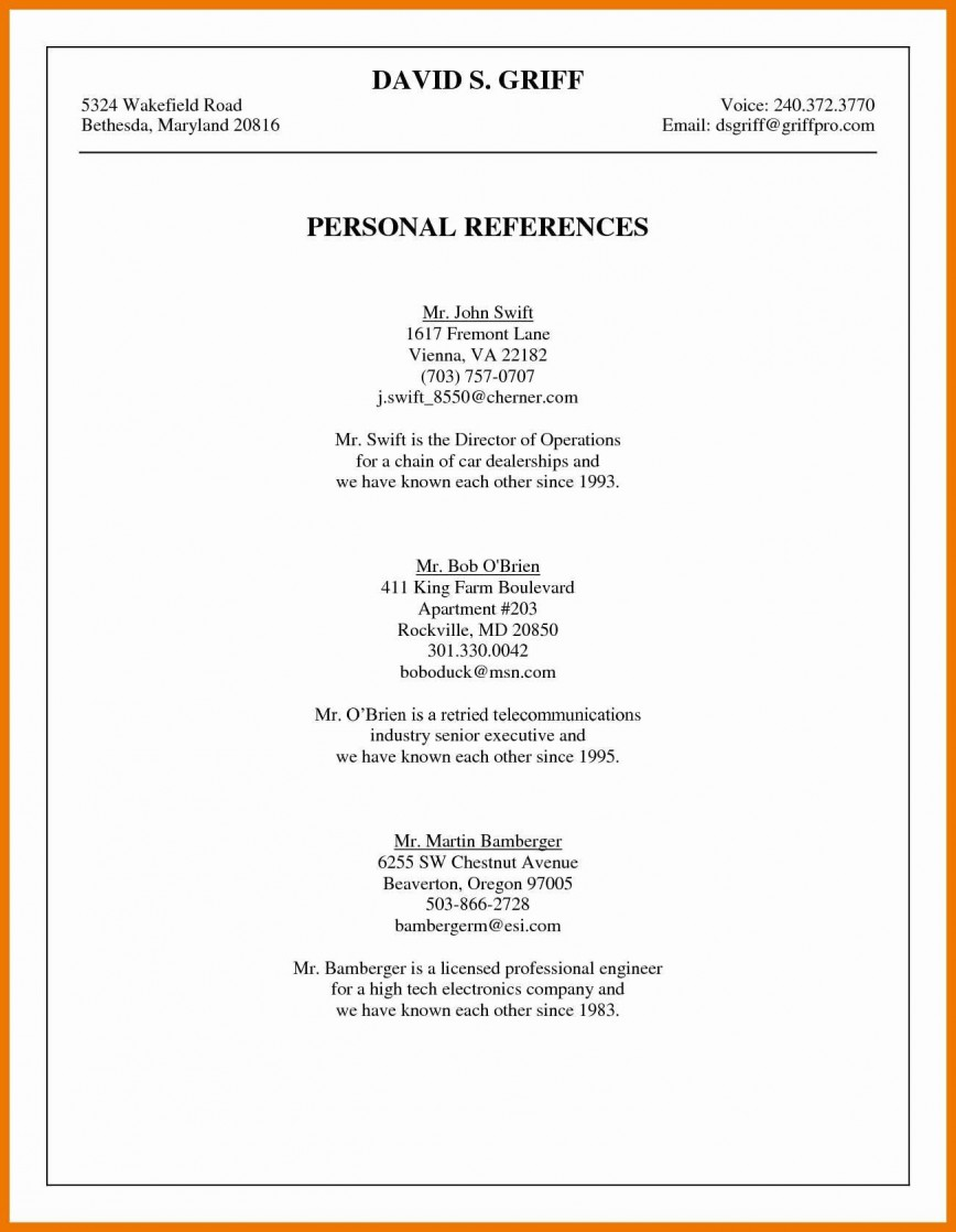 003 Phenomenal List Personal Reference Sample High Def 868