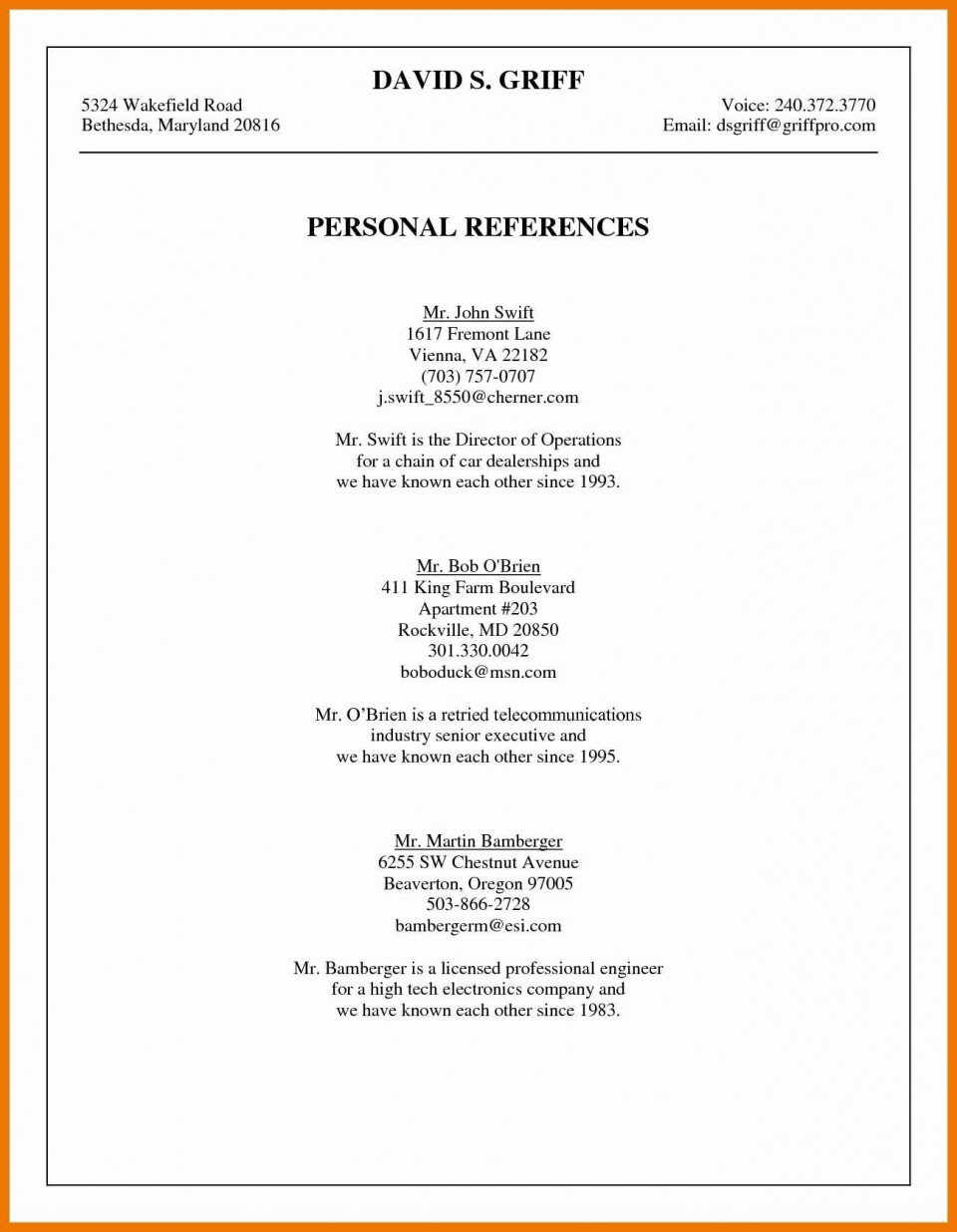003 Phenomenal List Personal Reference Sample High Def 960