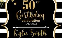 003 Phenomenal Microsoft Word 50th Birthday Invitation Template Highest Quality  Templates Editable Wedding Anniversary Free