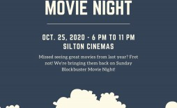 003 Phenomenal Movie Night Flyer Template High Def  Editable Psd Free