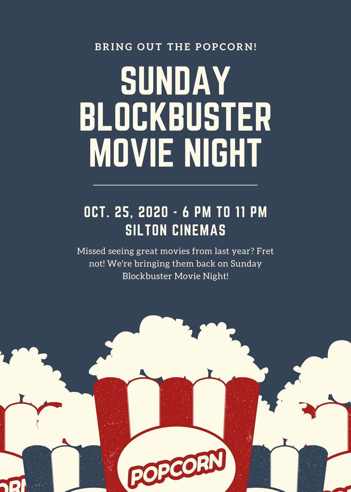 003 Phenomenal Movie Night Flyer Template High Def  Editable Psd FreeFull