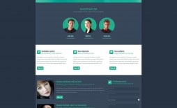 003 Phenomenal One Page Website Template Free Download Html Inspiration  Responsive With Cs Simple
