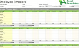 003 Phenomenal Operation Employee Time Card Excel Template Sample