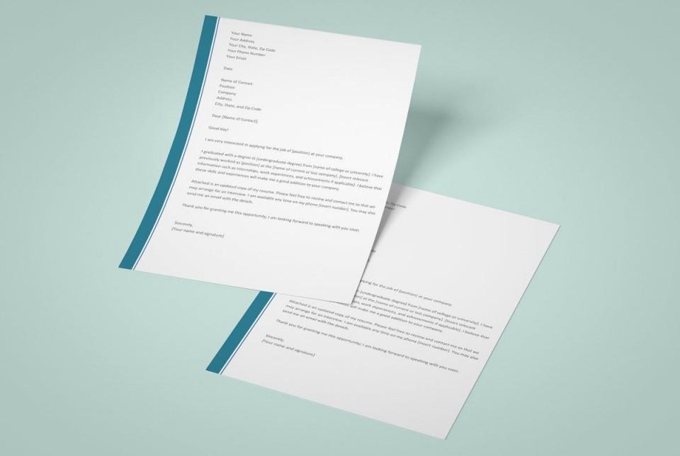 003 Phenomenal Resume Cover Letter Template Microsoft Word Idea 960